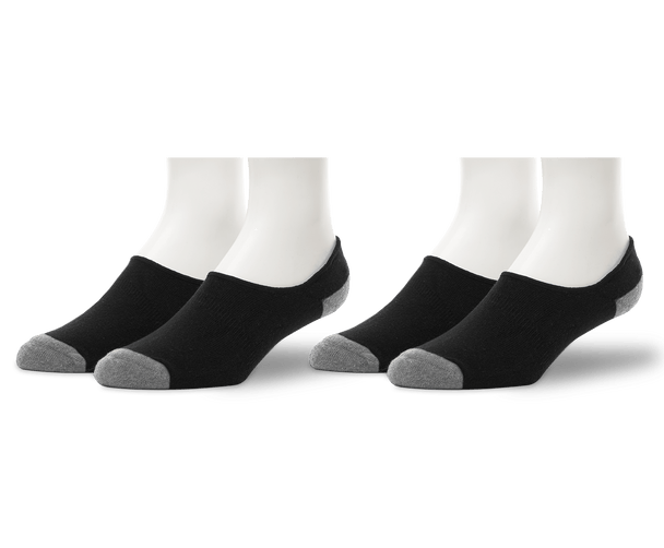 True Black | 2-Pack Everyday No Show Sock in True Black