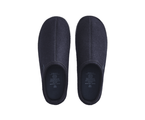 True Navy | Top-view of slippers in True Navy