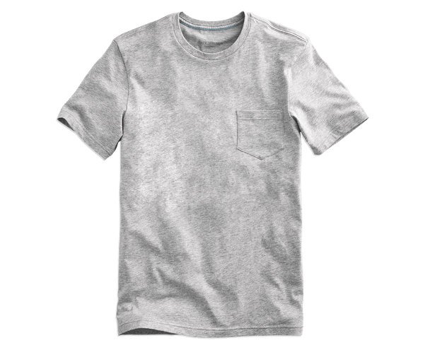 Grey Heather | Front view of Pima Crew Neck T-Shirt in Grey Heather