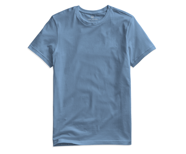 Dean Blue | Front view of Pima Crew Neck T-Shirt in Dean Blue