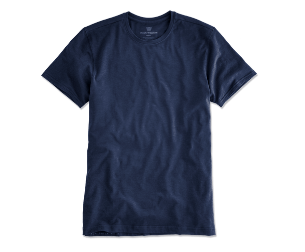 True Navy | Front view of Silver Crew Neck T-Shirt in True Navy