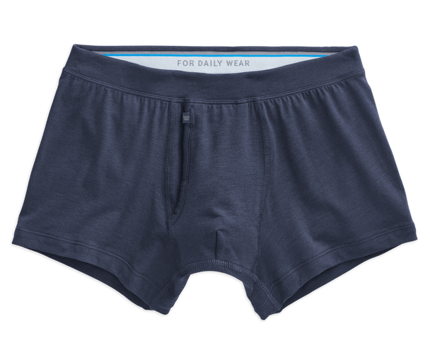 True Navy | Front view of Silver Trunks in True Navy