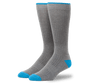 Grey Heather | Front view of Everyday Extended Crew Sock in Grey Heather