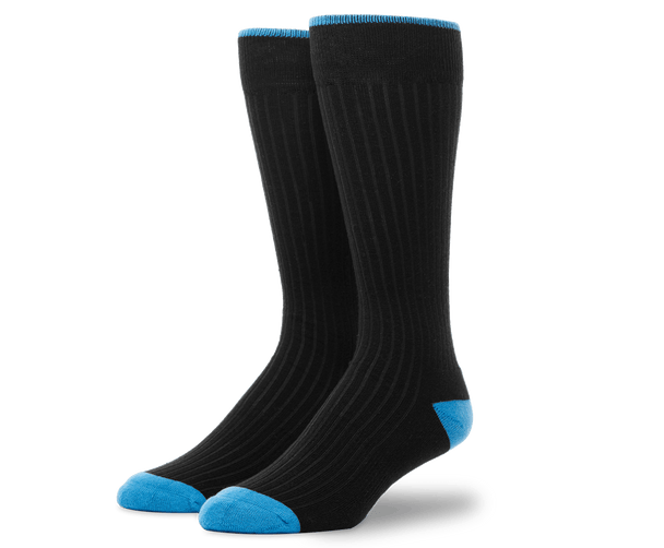 True Black | Front view of Everyday Extended Crew Sock in True Black