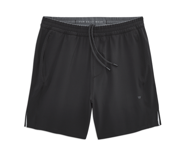 True Black | Front view of Stratus Active Short in True Black