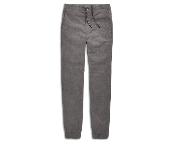 Charcoal Heather | Front view of Sunday Lounge Pant in Charcoal Heather