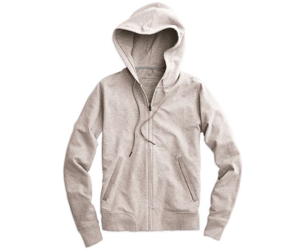 Sand Heather | Front view of Ace Hoodie in Sand Heather