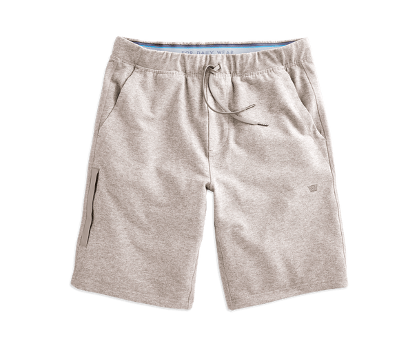 Sand Heather | Front view of Ace Sweatshort in Sand Heather
