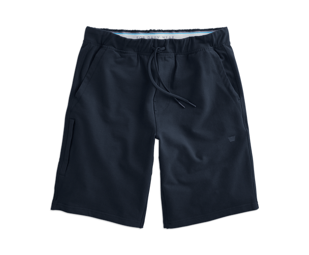 Total Eclipse Blue | Front view of Ace Sweatshort in Total Eclipse Blue