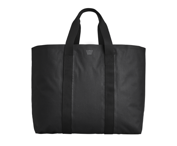 True Black | front-facing view of bonded tote bag