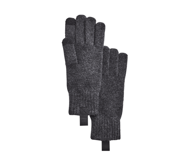 Nine Iron Heather | Tech cashmere gloves in Nine Iron Heather grey