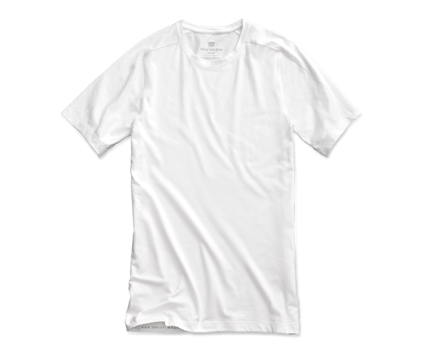 Bright White | Front view of Crew Neck Undershirt in Bright White