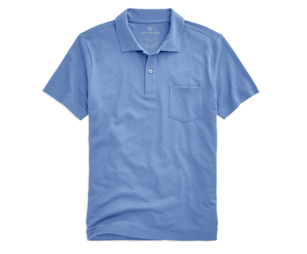 Dean Blue | Front view of Vesper Polo in Dean Blue