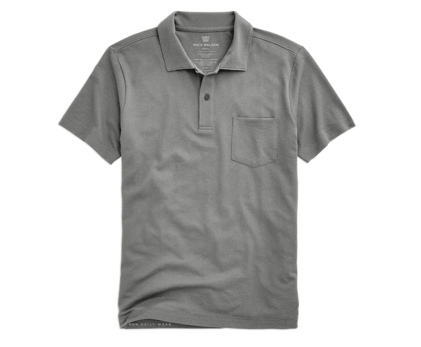 Monument Grey | Front view of Vesper Polo in Monument Grey