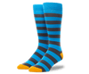 Grey / Weldon Blue | Front view of Everyday Extended Crew Sock in Grey / Weldon Blue