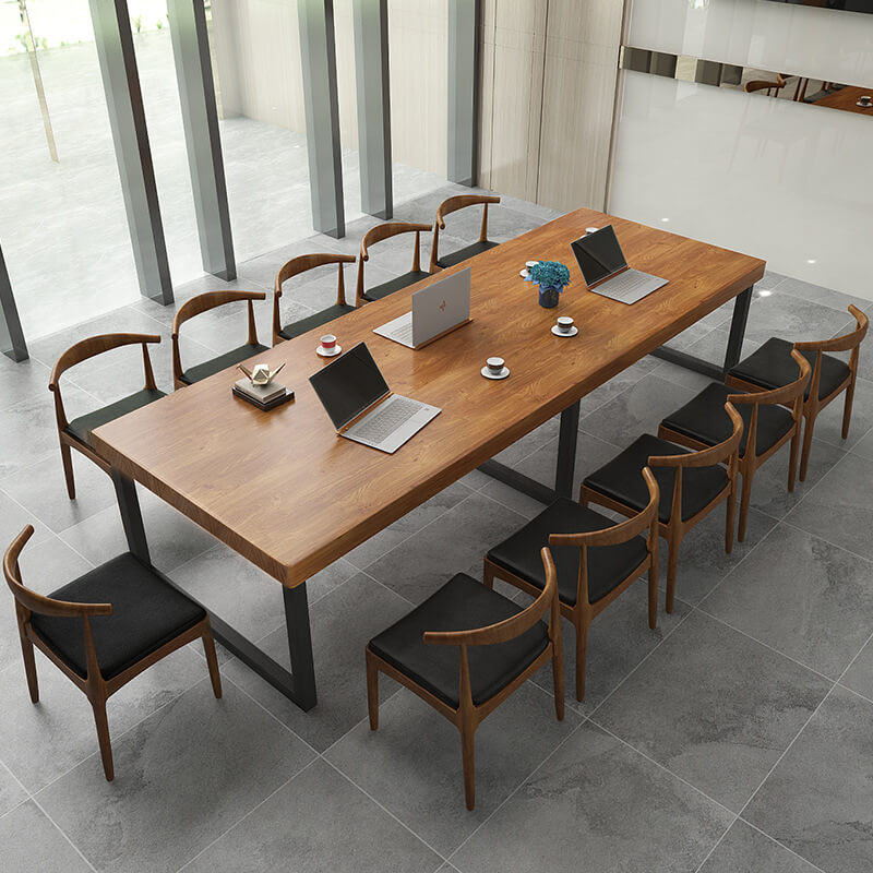 12 seater table wood modern open back cusion dining chairs