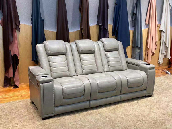 home theater recliner sofa with 2 cupholder cooling coil technology