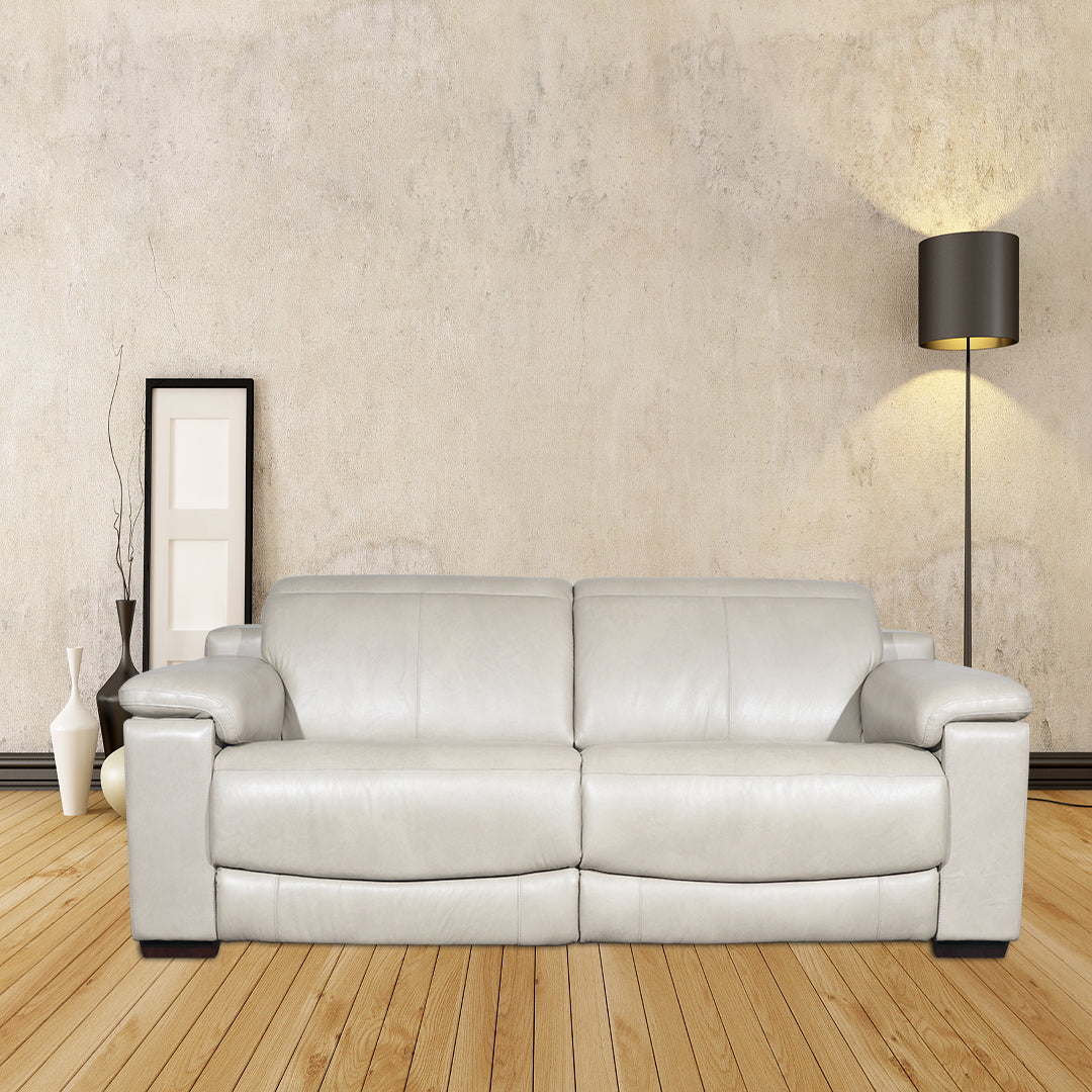 2.5 seater recliner sofa in italian top grain leather