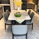 6 seater marble dining table sets