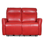 red two seater electric recliner sofa in full leather