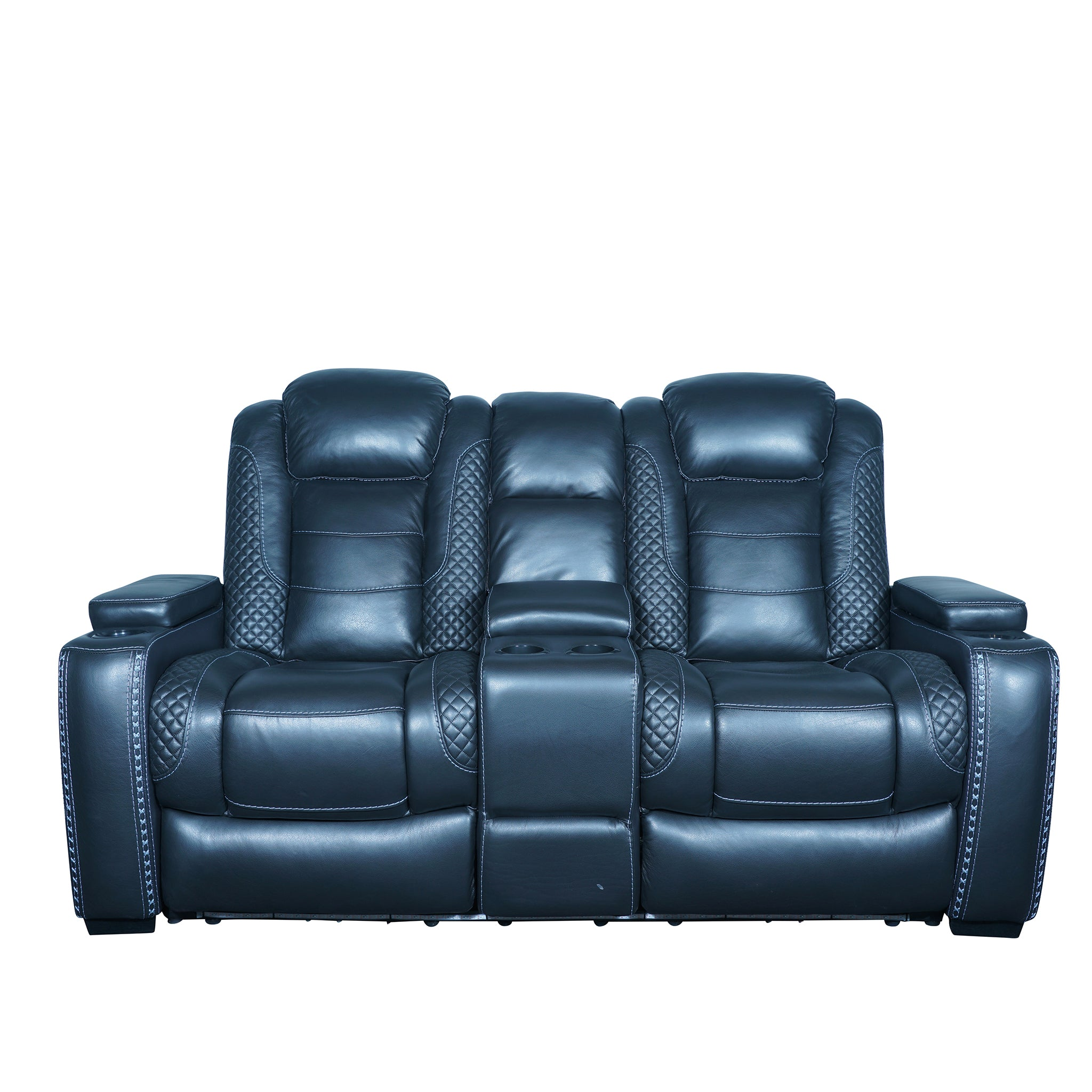 home theater 2 seater sofa semi aniline recliner