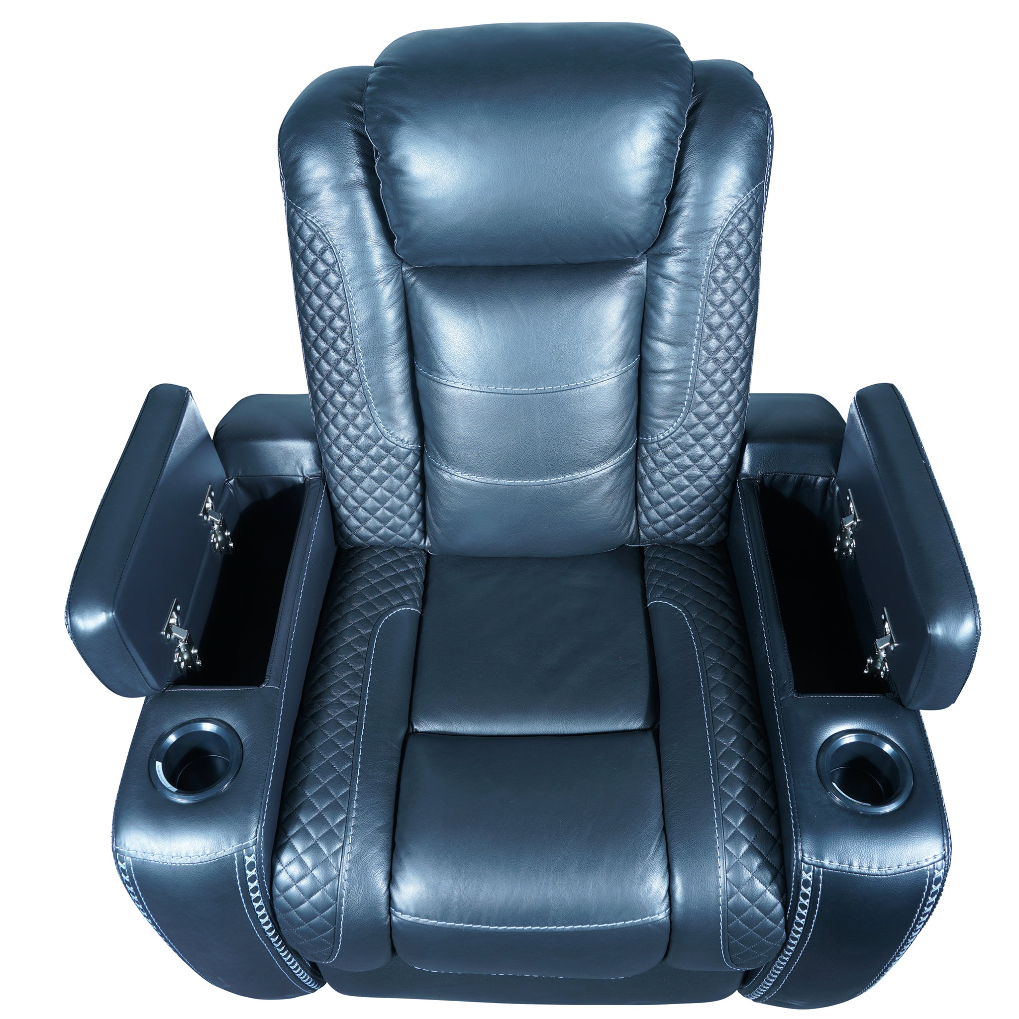 electric recliner armchair with handrest storage and 2 cup holder