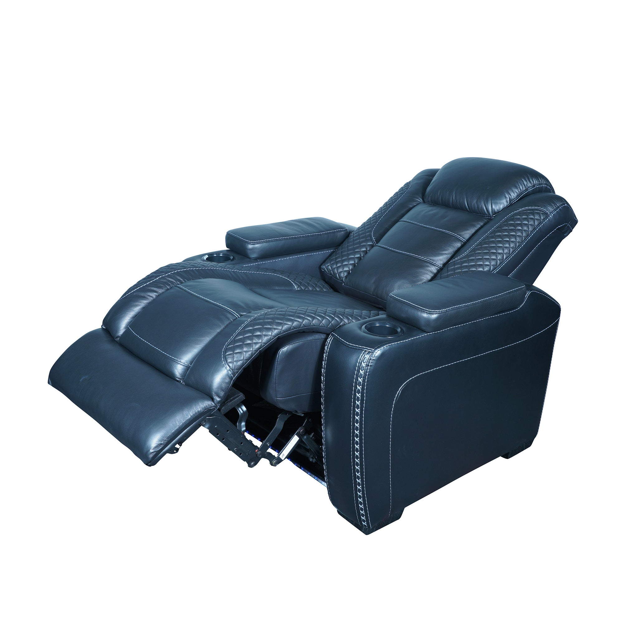 reclining armchair with adjustable headrest and usb