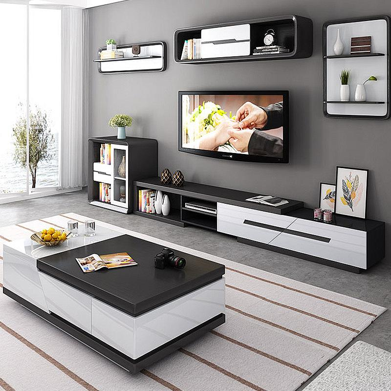 black solid wood coffee table living room