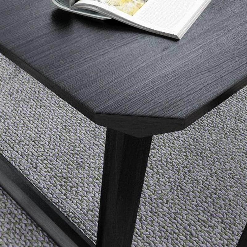 black solid wood dining table sides