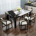 black solid wood extendable dining table