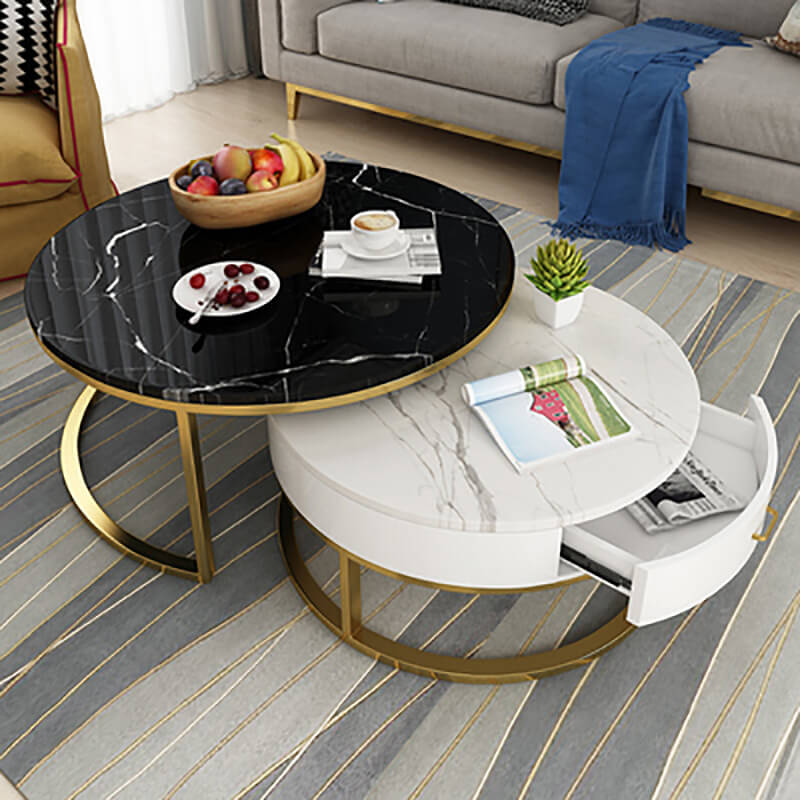 black white marble coffee table furniture