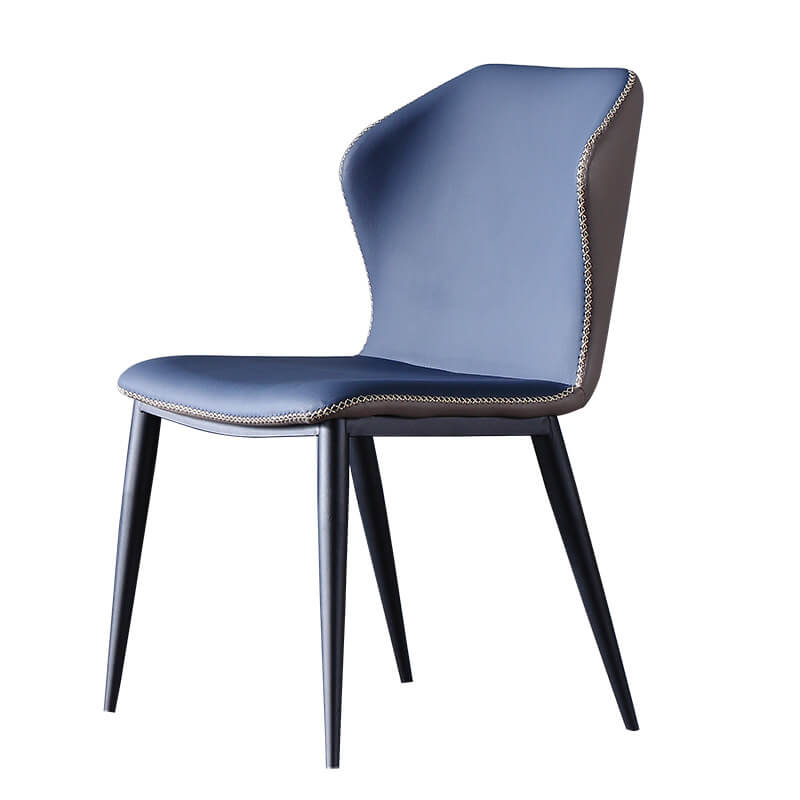 blue sand pu leather table chair