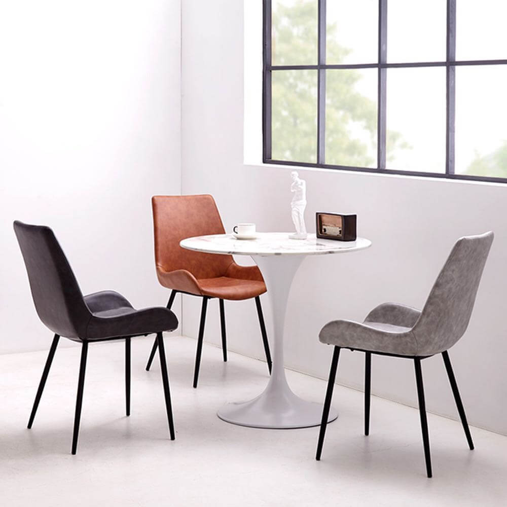 carbon steel dining chair 3 colours