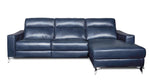 L shaped semi aniline leather recliner sofa with usb