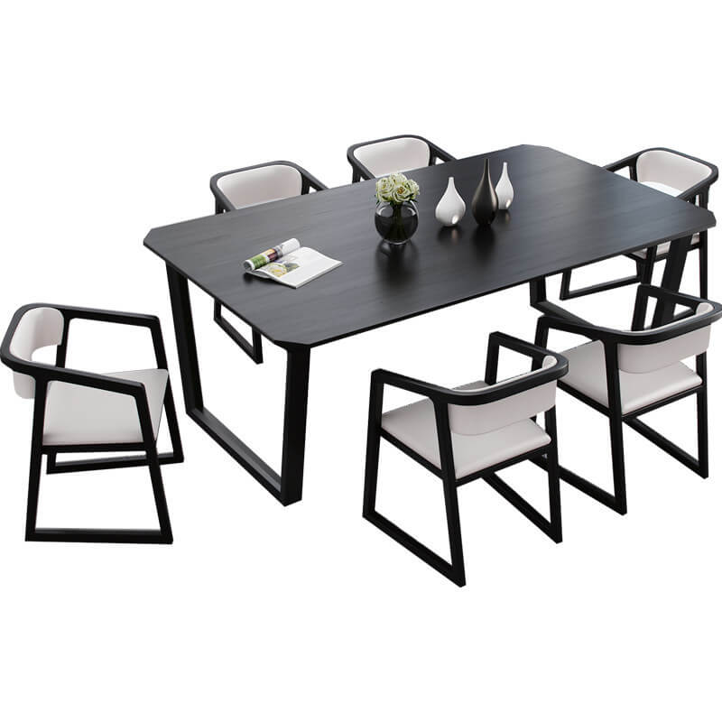 emerson black wood dining table dining room