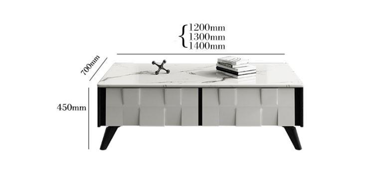 gregor marble coffee table dimensions