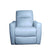 white living room armchair sofa motorized recliner semi aniline