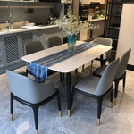 marble dining table-with 4 legs