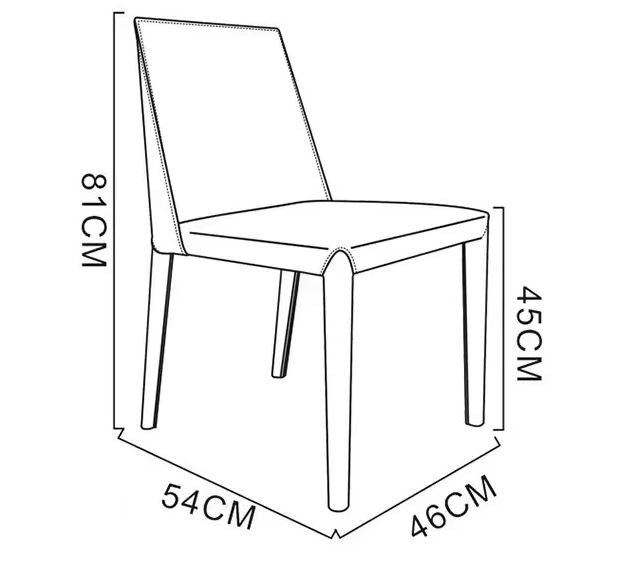 meg dining chair dimension