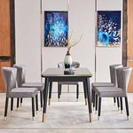 modern pleated silver black gold dining chairs with table