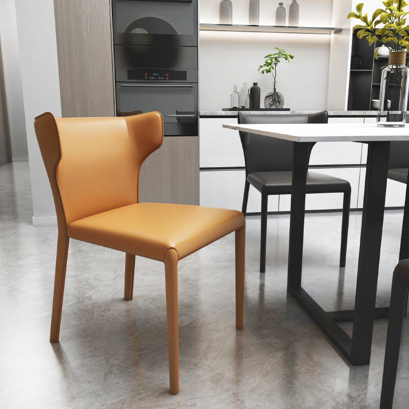 modern tan dining chair