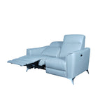 Recliner 2 seater italian top grain leather with usb