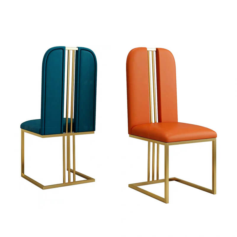 open support armless retro dining chairs teal orange