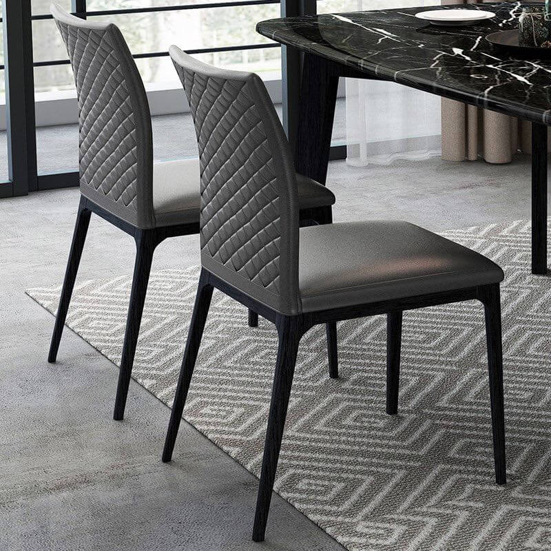 popular 2 grey quilted dining chair