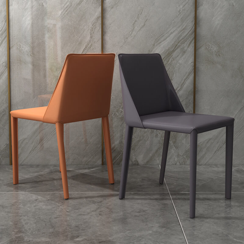 sleek dining chairs brown gray