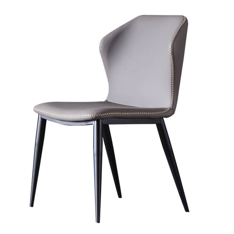 stitched curve modern dining chair