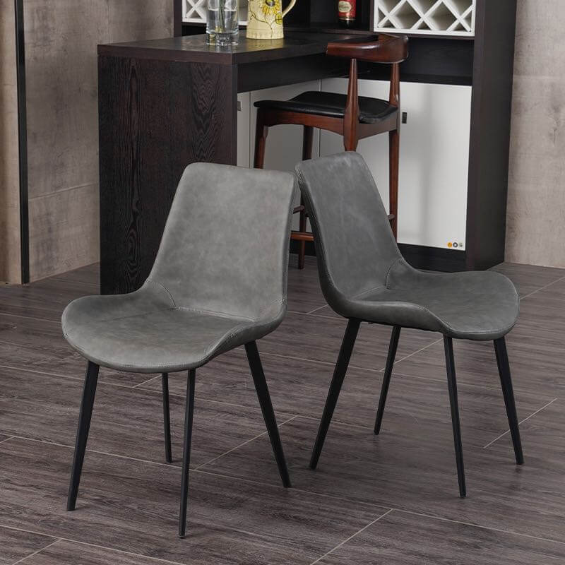 two tone grey dinng chair stable feet