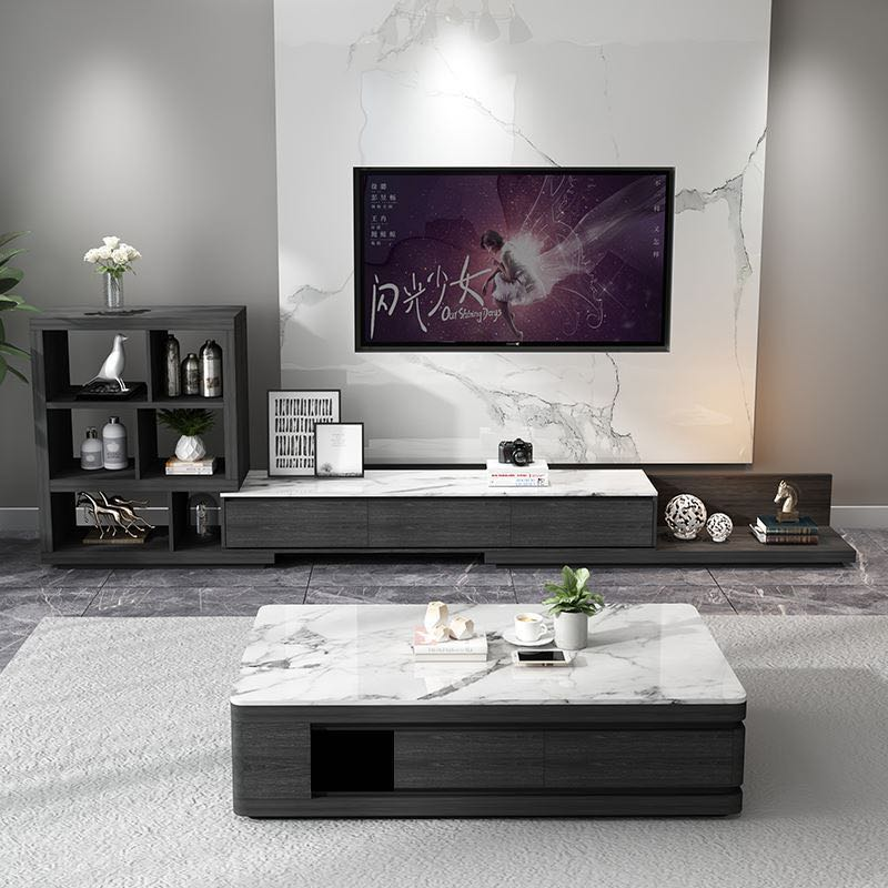 white coffee table luxury black solid wood