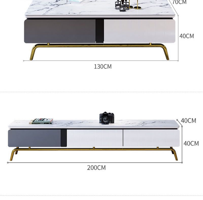 white marble coffee table tv console dimension