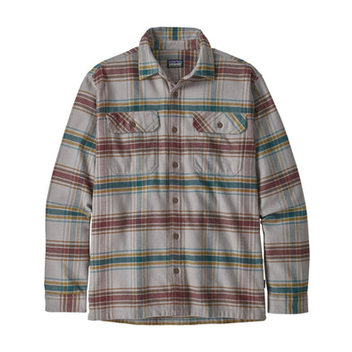 PATAGONIA M'S L/S FJORD FLANNEL SHIRT - DEFENDER: FEATHER GREY